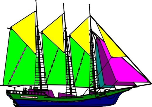 520x368 Vector Sail Ship Silhouette Free Vector Download (6,018 Free