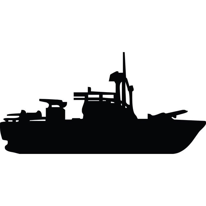 700x700 Wallhogs Haynes Pt Boat Silhouette Cutout Wall Decal Amp Reviews