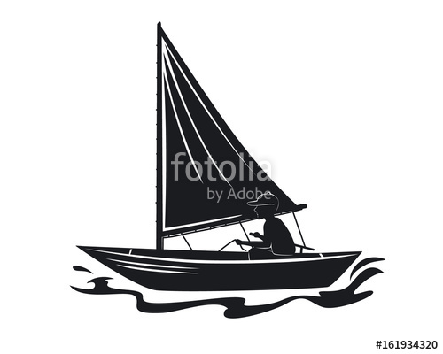 500x400 Man Sailing Silhouette Stock Image And Royalty Free Vector Files