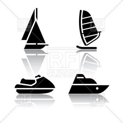 400x400 Boat, Sailing Ship And Jet Ski