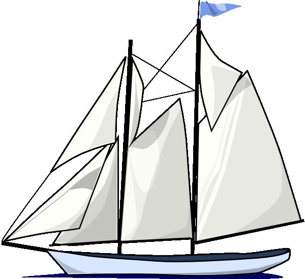 600x549 Boat Sail Sideways Clip Art Free Vector 4vector