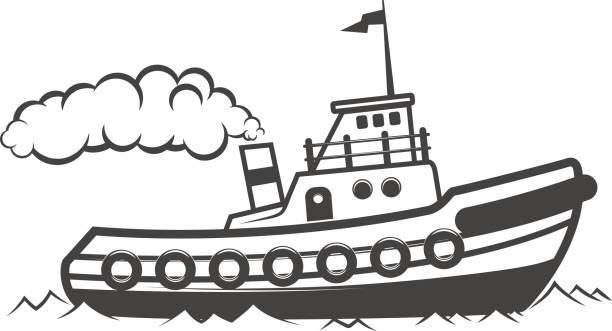 612x331 Clipart Tug Boat Free Tugboat