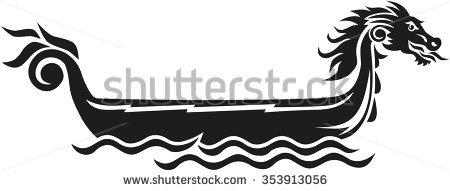 450x191 Clipart Dragon Boat Head Pencil And In Color