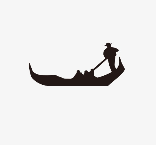 538x500 Boating Silhouette Figures, Character, Black, Boating Png Image