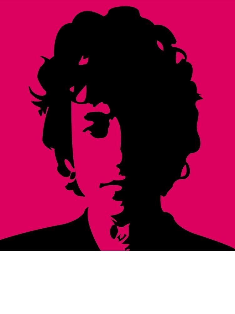 750x1000 Bob Dylan Retro Pink By Brisvegas Redbubble