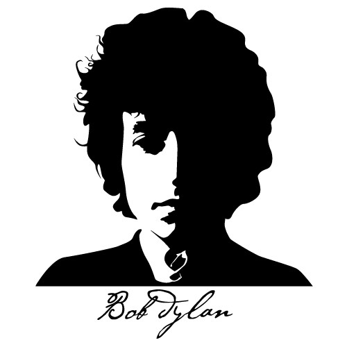 500x500 Sticker Bob Dylan Wlcb05