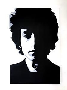 225x300 Bob Dylan Original Moderno Lienzo Enmarcado Arte Pop Pintura Ebay