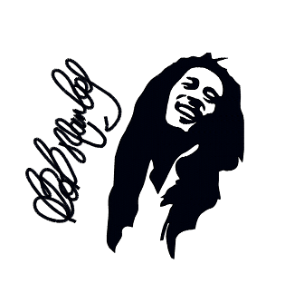 336x334 Bob Marley Silhouette All Designs Instant Downloads