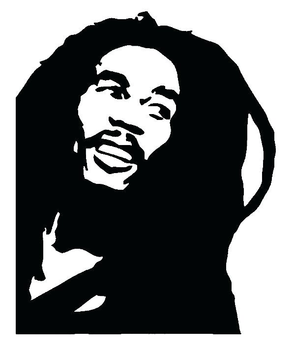 598x718 Bob Marley Coloring Pages Bob Silhouette Bob Band Vinyl Decal