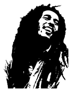 263x330 Bob Marley Decal Sticker
