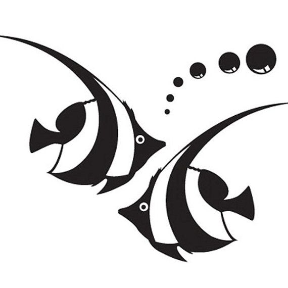 570x570 Twin Fish Wall Sticker Tattoo Vinyl Decal By Seeyou276 On Etsy