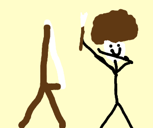 300x250 Billy Mays Stabs Bob Ross With Potato