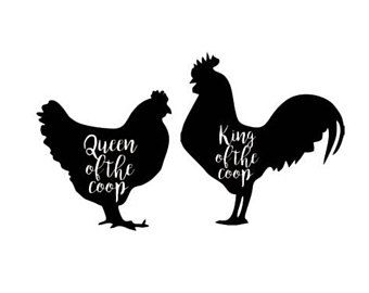 340x270 King And Queen Of The Coop Chicken Farm Set Svg Dxf File Instant