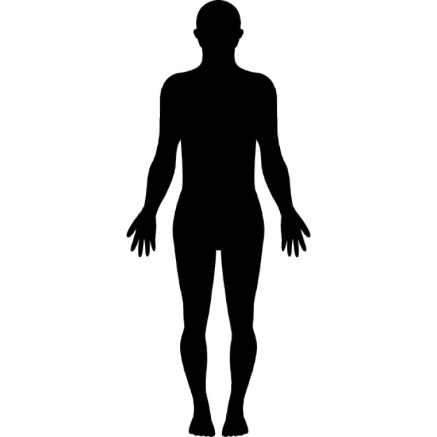 626x626 Standing Human Body Silhouette Icons Free Download