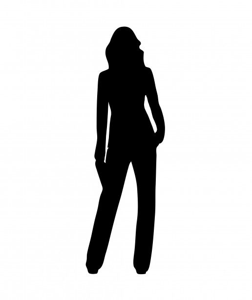 516x615 Black Silhouette Defining A Female Body Shape. Source Openclipart