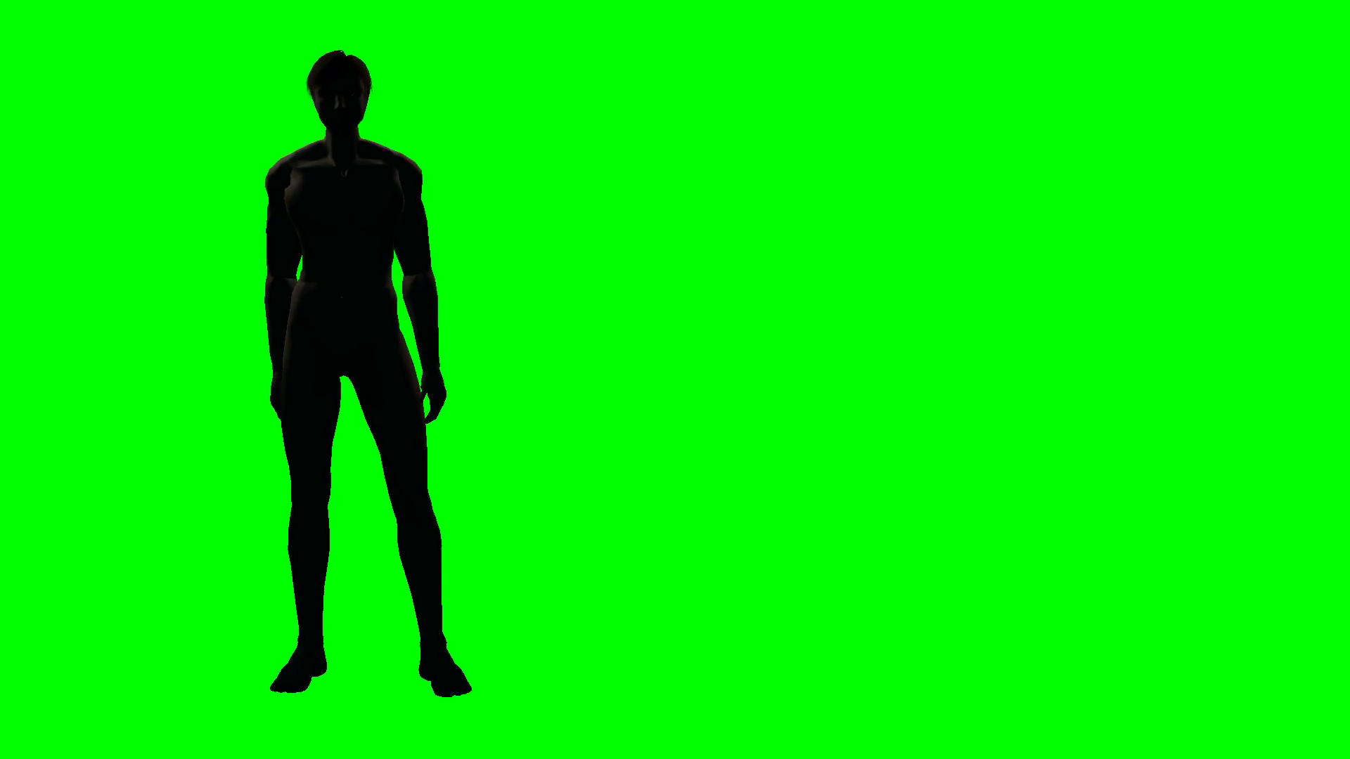 1920x1080 Male Body Silhouette Green Screen Motion Background