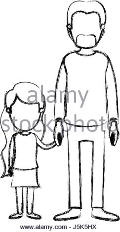 243x470 Blurred Silhouette Caricature Faceless Full Body Couple Parents