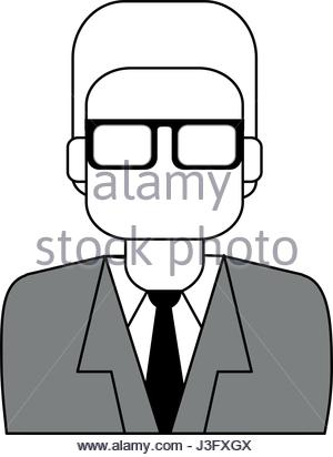 300x412 Colorful Silhouette Half Body Executive Faceless Man With Glasses