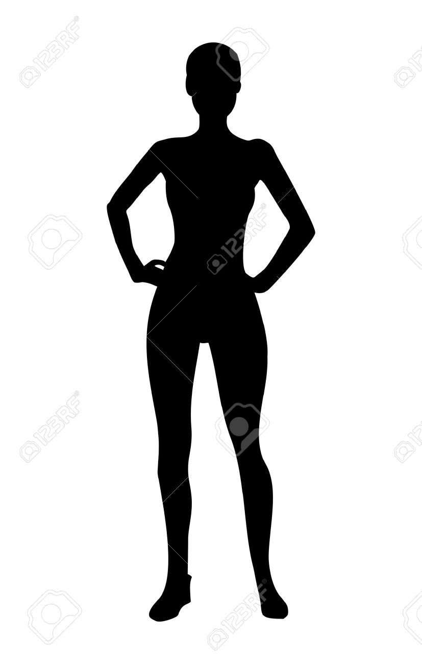 827x1300 Fit Girl Silhouette Silhouette Of The Human Body Clipart
