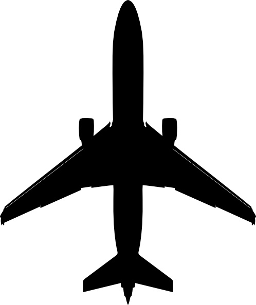 498x594 Boeing Plane Silhouette Clip Art Free Vector In Open Office