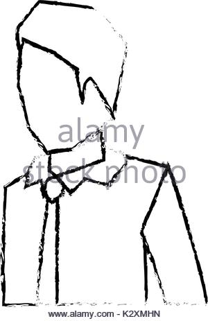 300x463 Businessman Faceless Suit And Half Body Sketch Silhouette