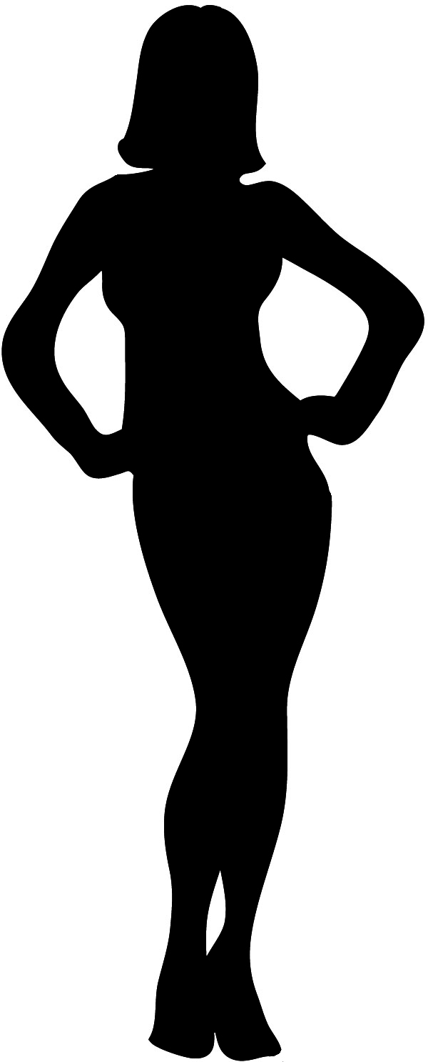 600x1486 Free Clipart Girl Body Outline