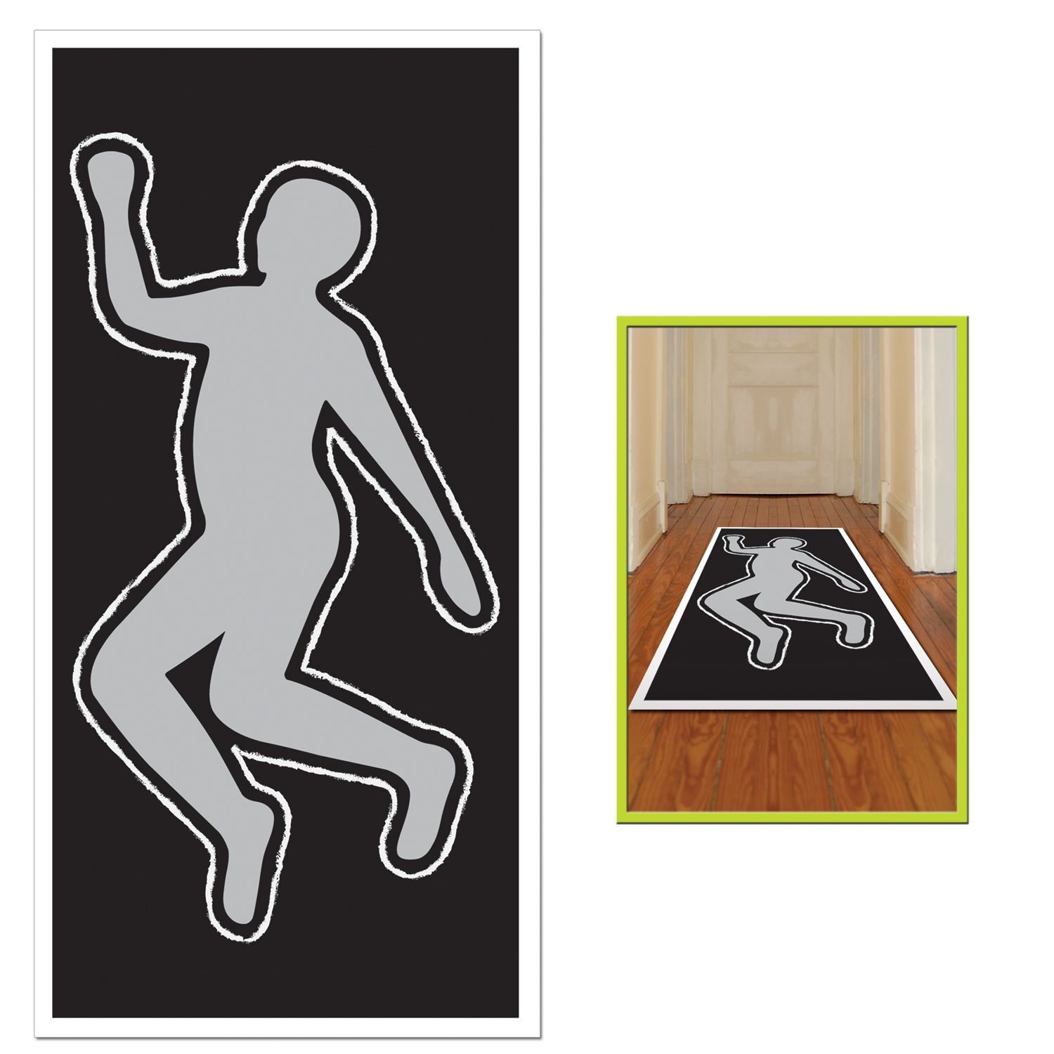 1500x1500 Party Scene Investigation Body Silhouette (1). This Novelty