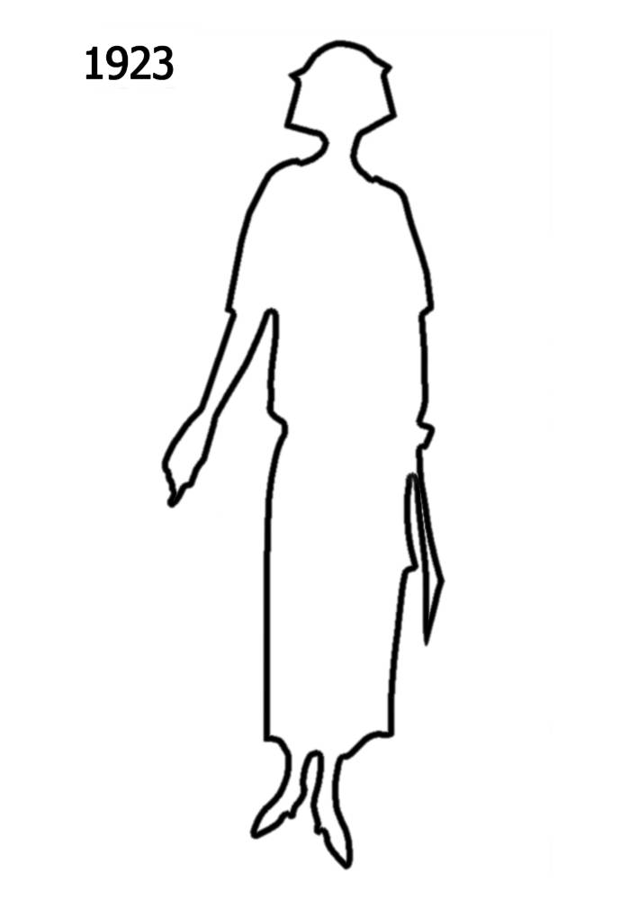 700x1000 Free Outline White Silhouettes 1920 1930 In Costume History