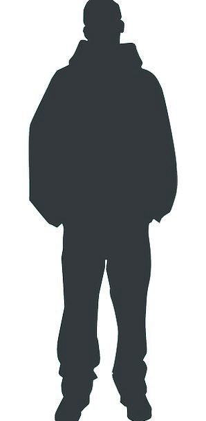 298x608 Man, Gentleman, Being, Silhouette, Outline, Person, Human