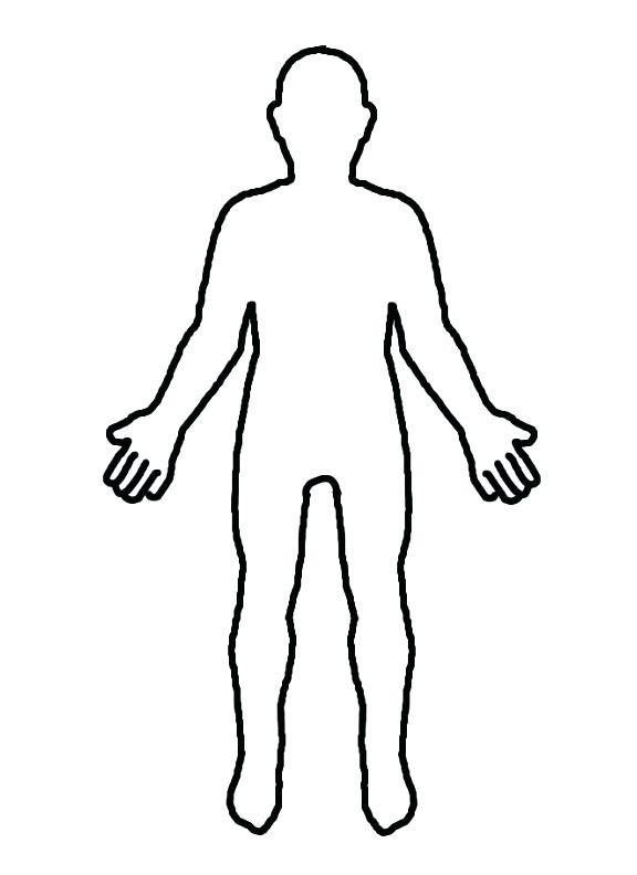 576x792 Human Body Outline Human Body Blank Outline Clipart Clip Art Jpg
