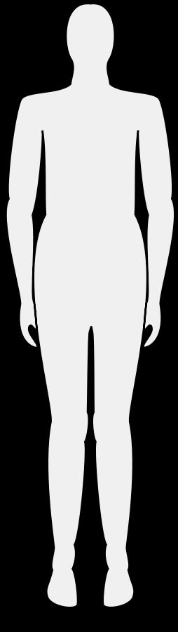 254x900 Male Body Silhouette Svg Clip Arts Download