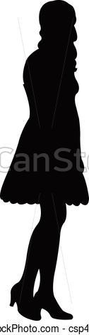 126x470 A Girl Body Silhouette Vector Eps Vector