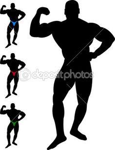 236x308 Bodybuilder Vector Silhouette Silhouettes Clipart Silhouettes