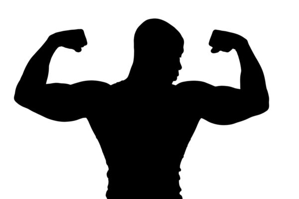 600x400 Silhouette Of Bodybuilder Flexing Muscles