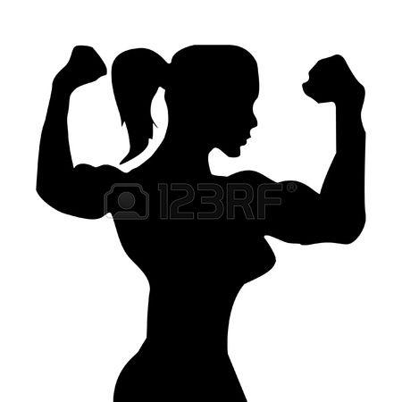 450x450 Woman Clipart Bodybuilder