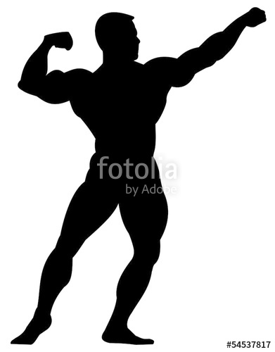391x500 Bodybuilder Silhouette Stock Image And Royalty Free Vector Files