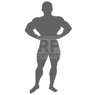 400x400 Bodybuilder Silhouette Royalty Free Vector Clip Art Image