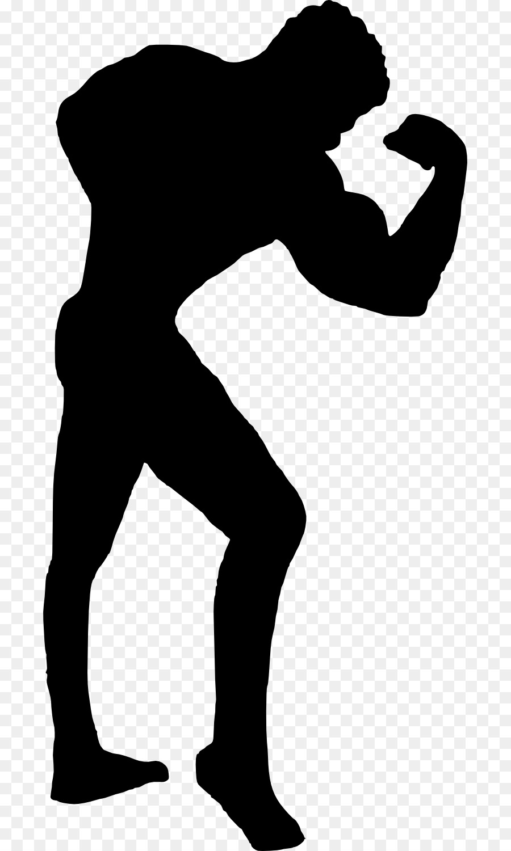 900x1500 Bodybuilding Silhouette Clip Art