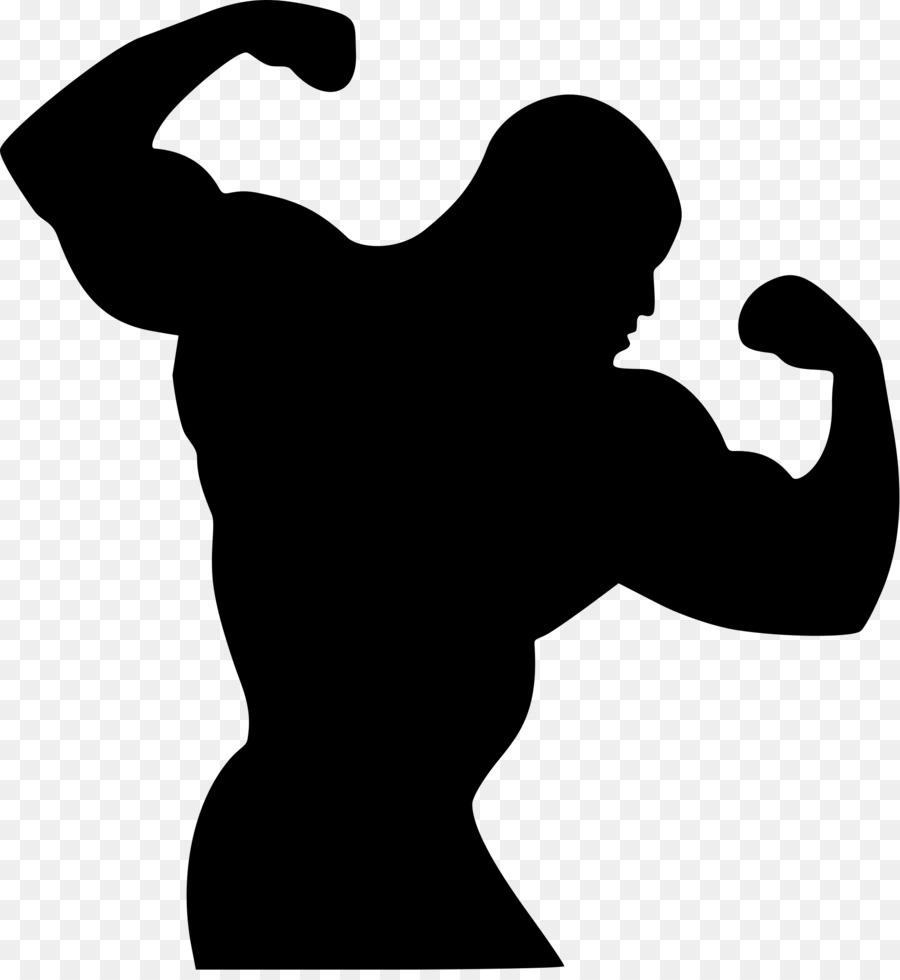 900x980 Bodybuilding Silhouette Clip Art