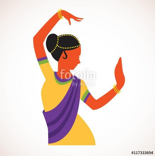 498x500 India Girl Wearing Traditional Clothing Dancing Indian Dance
