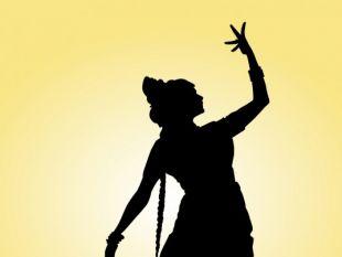 310x233 Indian Dancer On The Floor Silhouette Free Vectors Ui Download