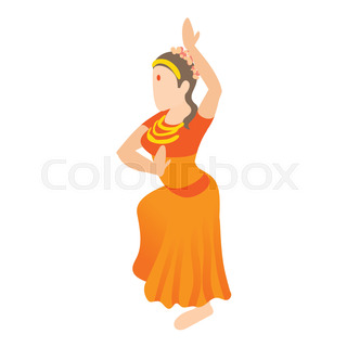 320x320 Silhouettes Of Dancers. Traditional Indian Dance. Stock Vector