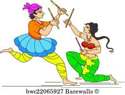 255x194 Art Print Of Garba Indian Dance Barewalls Posters Amp Prints