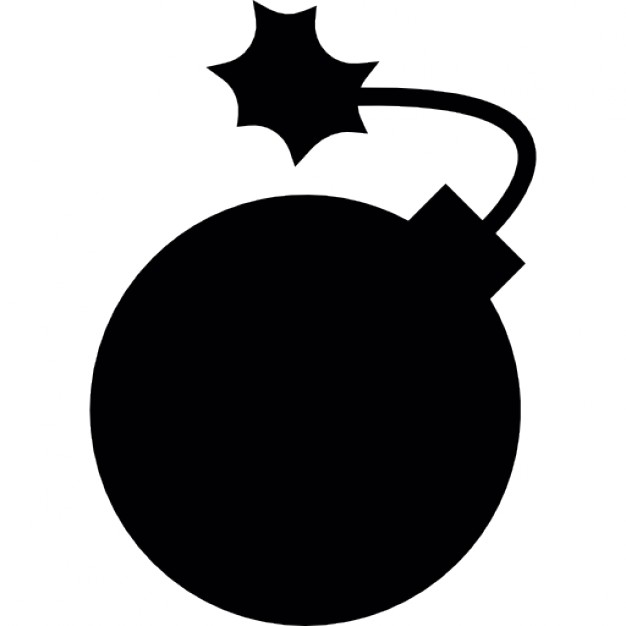 626x626 Round Bomb In Black Icons Free Download