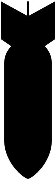 188x600 Bomb Silhouette