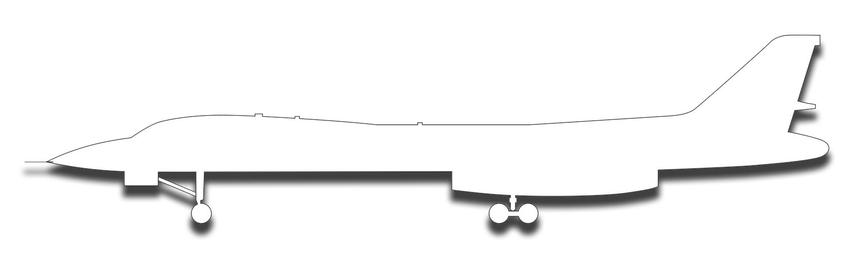 1690x516 Lancer Strategic Bomber Silhouette Sticker Decal