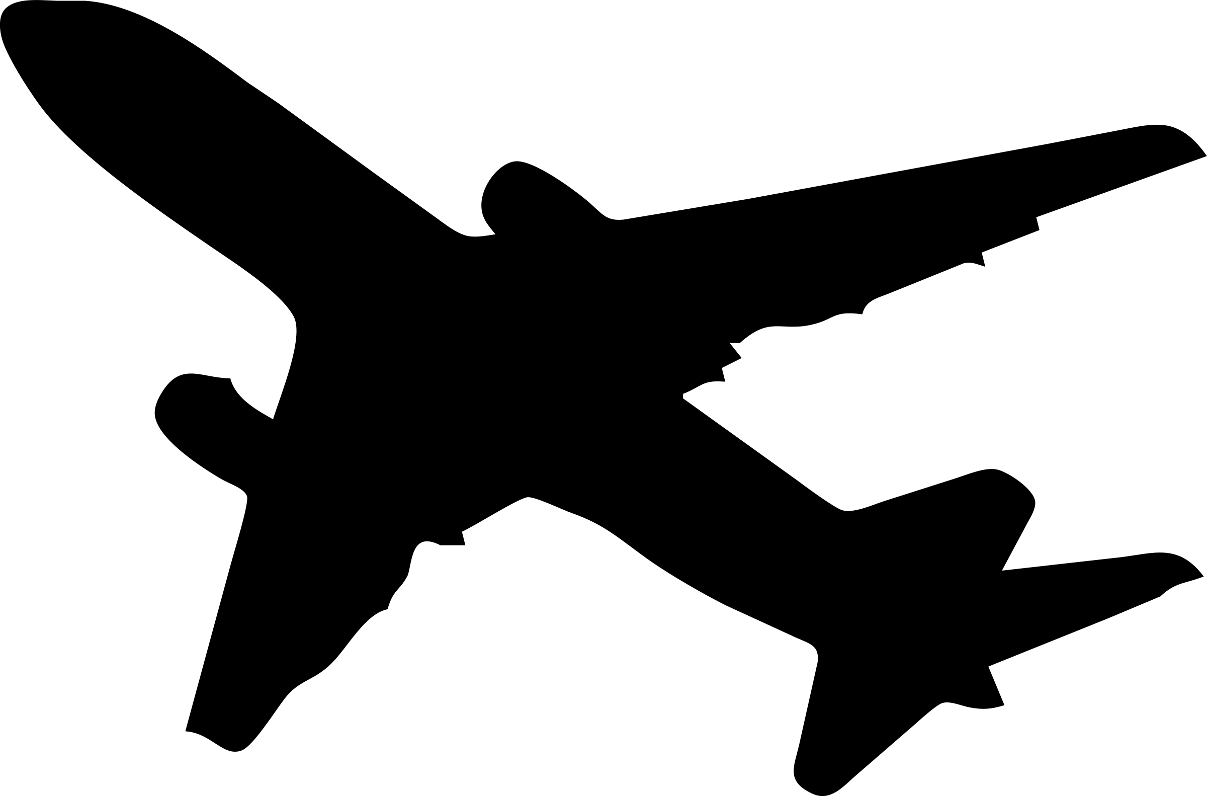 2400x1582 Silhouette Of B 707 Clipart