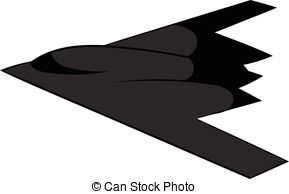 289x194 Stealth Bomber Silhouette. Black Slihouette Of A Typical Vector