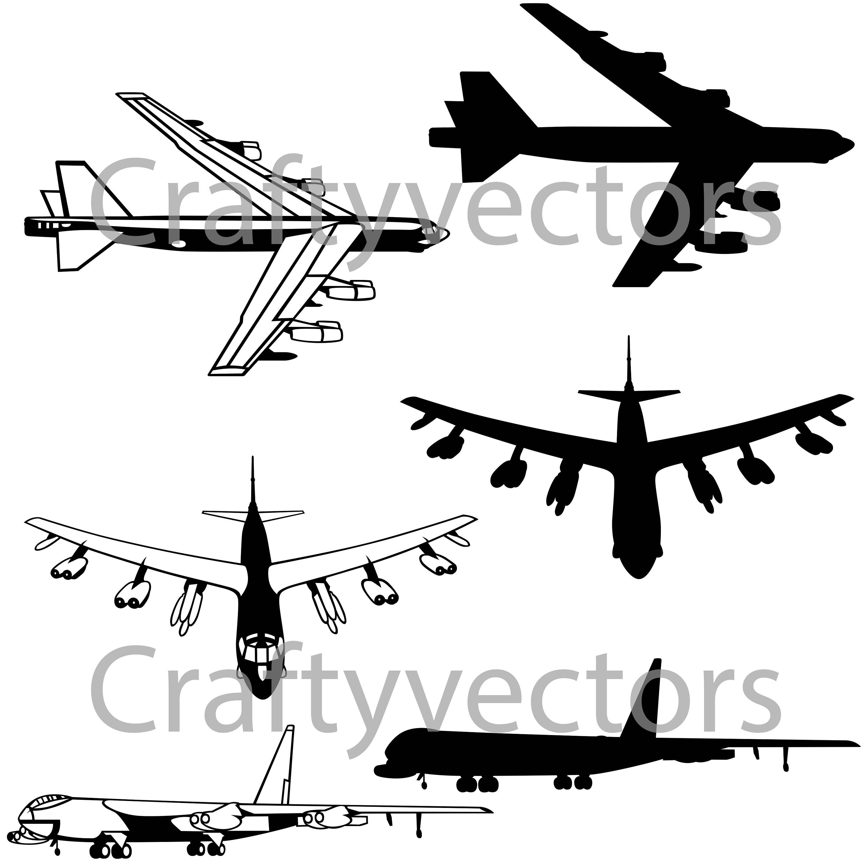 3000x3000 B52 Bomber Vector File Svg