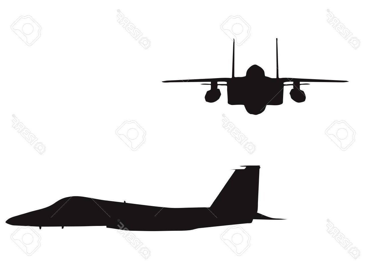 1300x965 Best Free Eps Vector Illustration Of Bomber Plane Silhouette